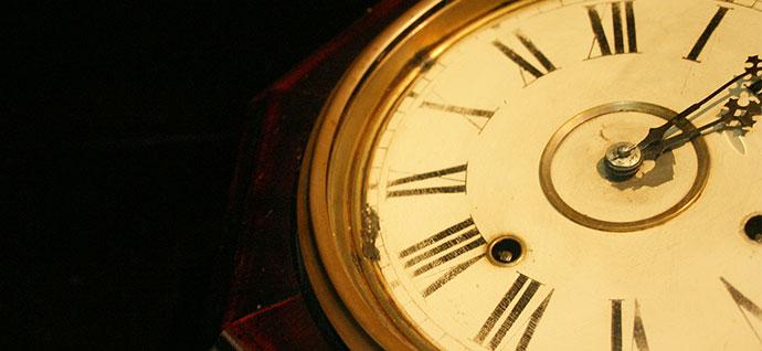 歴史を表す時計