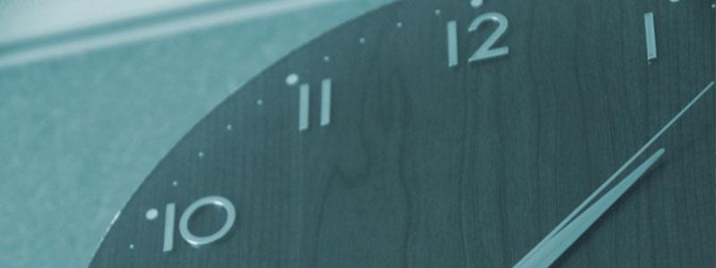 空き時間をしめす時計