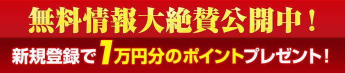 船の時代は新規登録で1万円分のポイントプレゼント