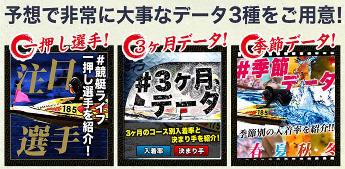 競艇ライフの3つの無料コンテンツ