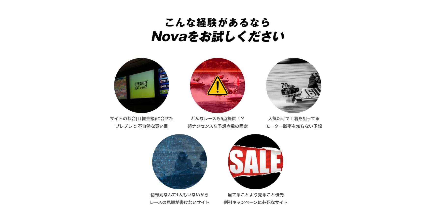 競艇Novaが提供する情報の種類