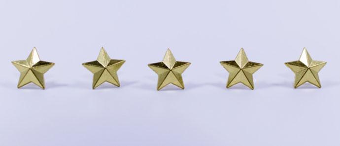 競艇のランクをあらわす5つの星